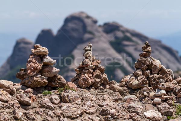 View of Montserrat mountains (Spain)  Stock photo © digoarpi
