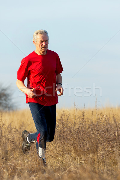 Senor runner Stock photo © digoarpi
