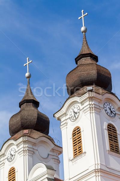 Bom húngaro igreja pequeno aldeia Hungria Foto stock © digoarpi