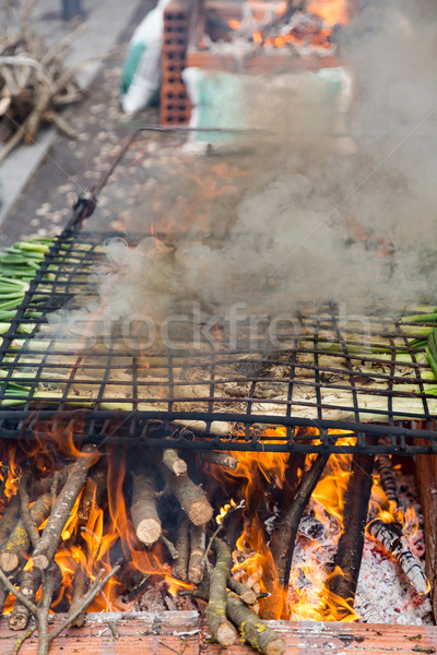 Gekookt Open brand leuk witte Stockfoto © digoarpi