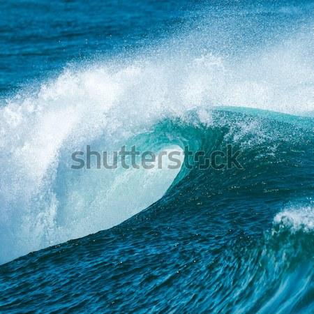 волна красивой синий океанская волна пляж природы Сток-фото © digoarpi