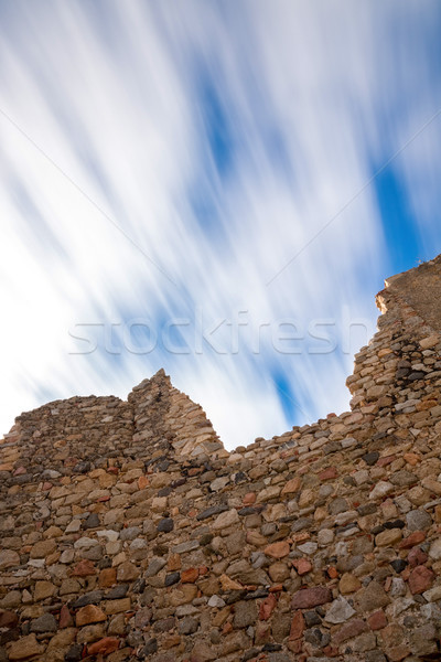 Long exposure effect in a old castle wall   Stock photo © digoarpi