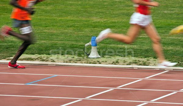 Competição começar apressar grama homem Foto stock © digoarpi
