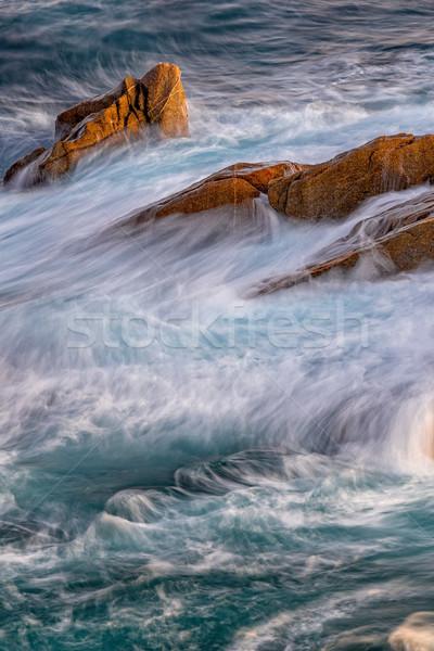 Szép részlet spanyol part tengerpart tavasz Stock fotó © digoarpi