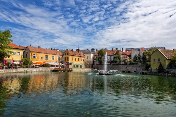 Small town Tapolca (Hungary) Stock photo © digoarpi