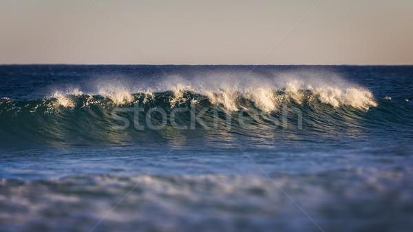 Mooie Blauw zeegolf kust Spanje landschap Stockfoto © digoarpi