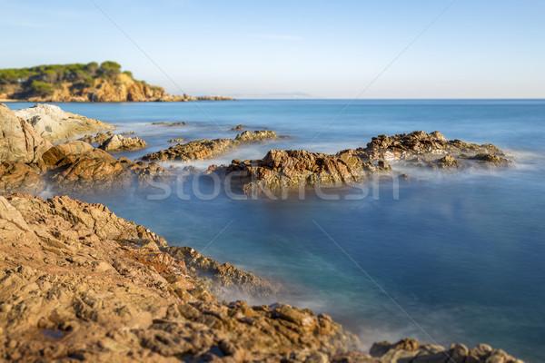 Nice landscape of the Spanish coastal in Costa Brava, Playa de A Stock photo © digoarpi