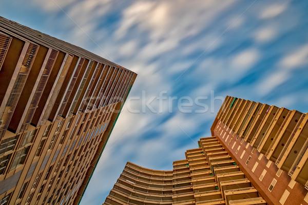 Wysoki budynku Hiszpania długi czas ekspozycji zdjęcie miasta Zdjęcia stock © digoarpi