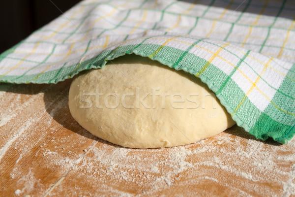 ケーキ ホーム キッチン 緑 デスク ストックフォト © digoarpi