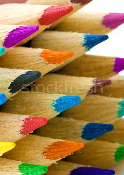 Lápis escritório madeira escolas Foto stock © digoarpi