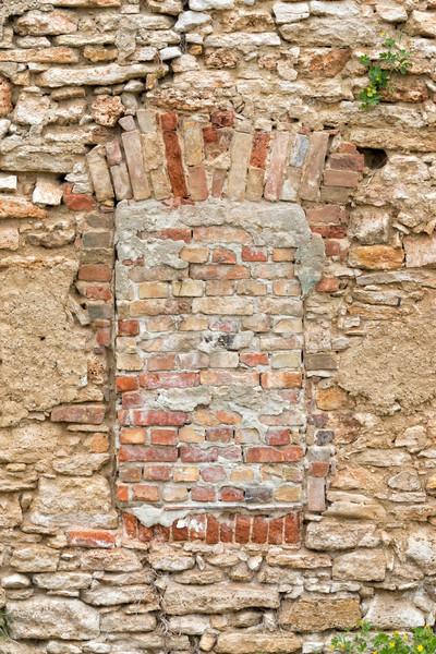 Walled-up window Stock photo © digoarpi