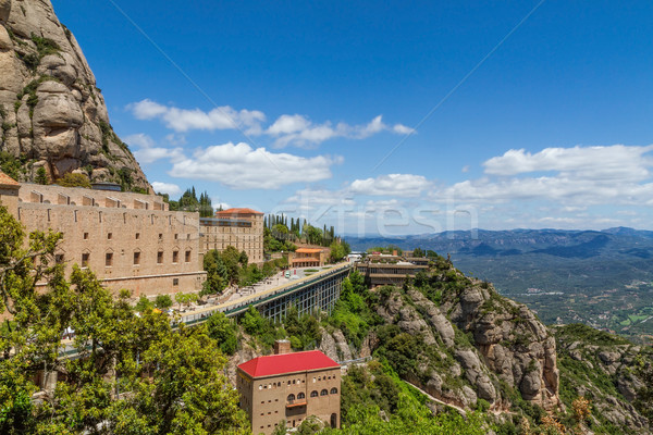 Tall mountain around the monastery of Santa Maria de Montserrat  Stock photo © digoarpi
