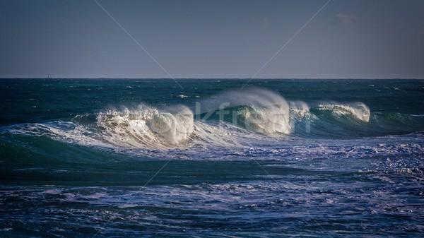 красивой синий океанская волна пляж природы пейзаж Сток-фото © digoarpi