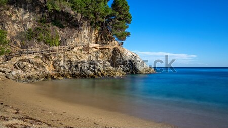 Nice detail of the Spanish coast in Costa Brava, Sant Antoni de Calonge Stock photo © digoarpi