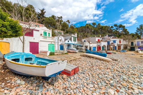 Güzel sessiz sahil köy İspanyolca ev Stok fotoğraf © digoarpi