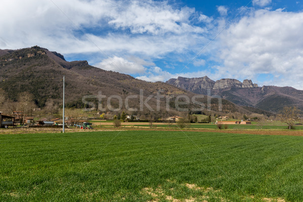 Beautiful Spanish landscape near the ancient village Hostales den Bas in Catalonia of Spain Stock photo © digoarpi