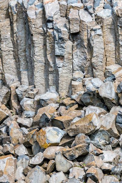 Interessant Basalt Ungarn Natur Berg Reise Stock foto © digoarpi