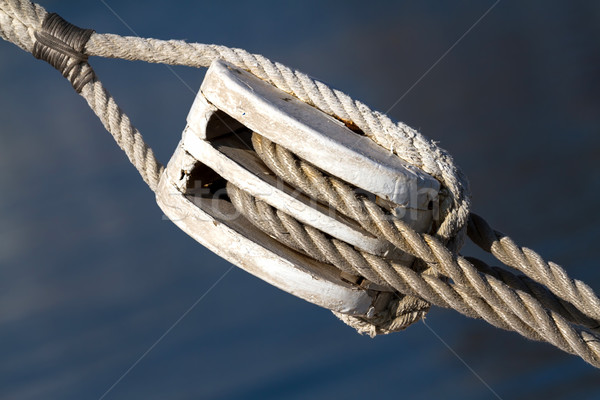 żeglarstwo liny napięcie połowów drewna tle Zdjęcia stock © digoarpi