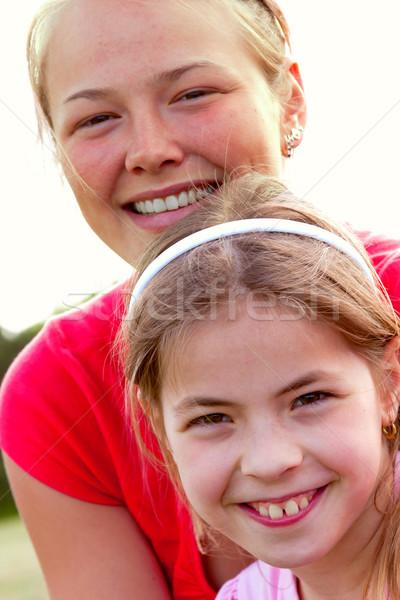 女の子 美しい 小さな 姉妹 楽しむ 生活 ストックフォト © digoarpi