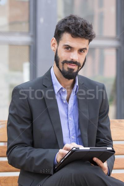Young man with beard Stock photo © digoarpi