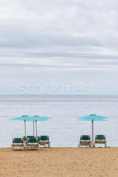 Espera turistas playa sol naturaleza fondo Foto stock © digoarpi