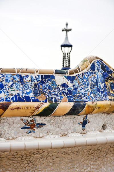 Parque interessante padrões Barcelona cidade jardim Foto stock © digoarpi