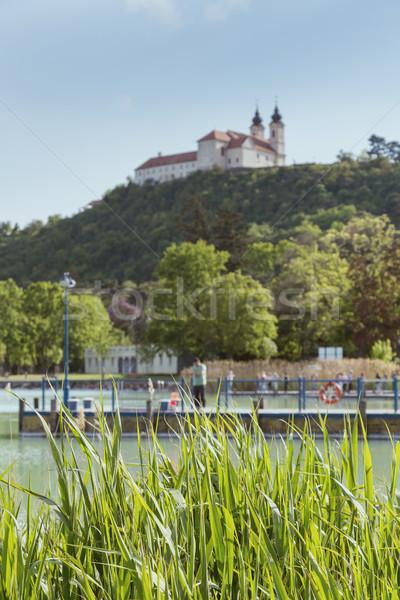 Abdij meer Balaton Hongarije hemel landschap Stockfoto © digoarpi
