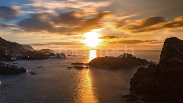 Beautiful sunrise in a bay in Costa Brava, Spain Stock photo © digoarpi