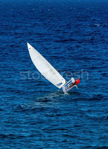 Velero vela barco mar deporte verano Foto stock © digoarpi