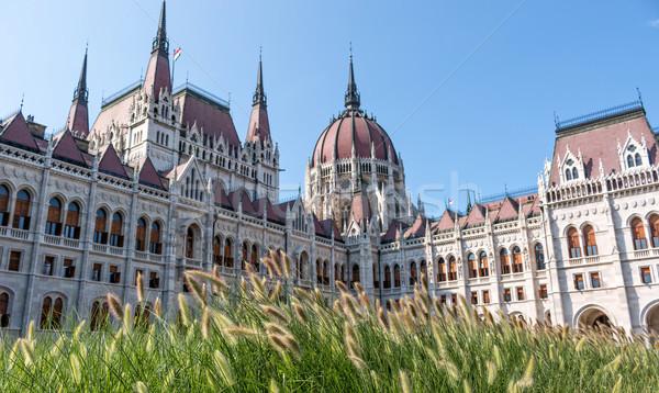 ブダペスト 建物 議会 ハンガリー 風景 青 ストックフォト © digoarpi