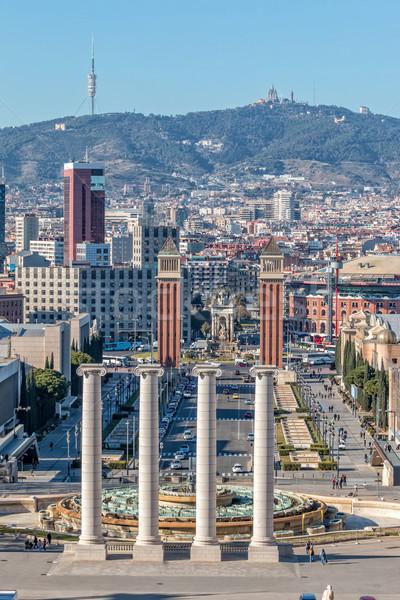ストックフォト: 風景 · バルセロナ · スペイン · 家 · 自然 · 夏