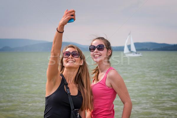 девочек два молодые воды пару Сток-фото © digoarpi