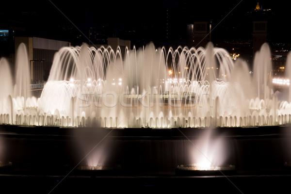 The famous Montjuic Fountain in Barcelona.Spain. Stock photo © digoarpi