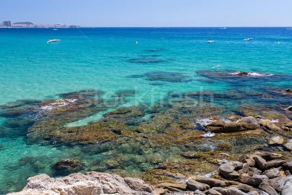 Okyanus manzara mavi şeffaf su Stok fotoğraf © digoarpi