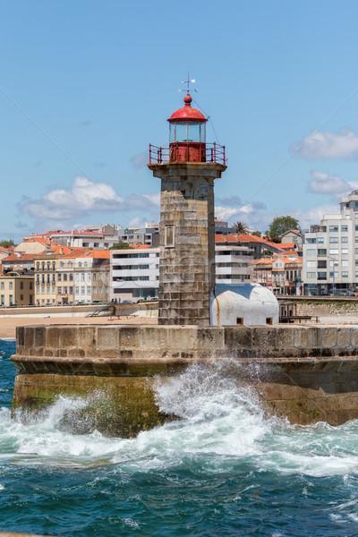 Lighthouse in Foz of Douro, Portugal Stock photo © digoarpi