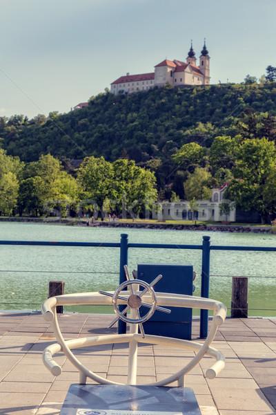 Opactwo jezioro Balaton Węgry niebo krajobraz Zdjęcia stock © digoarpi