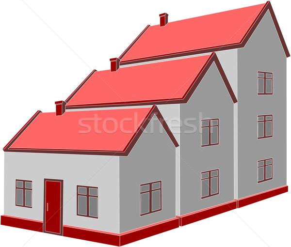 Wektora domu 3D kolor streszczenie charakter Zdjęcia stock © Dimanchik