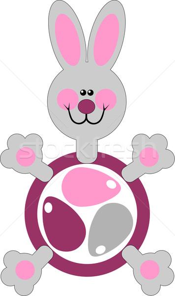 праздник заяц подарок яйцо цвета вектора Сток-фото © Dimanchik