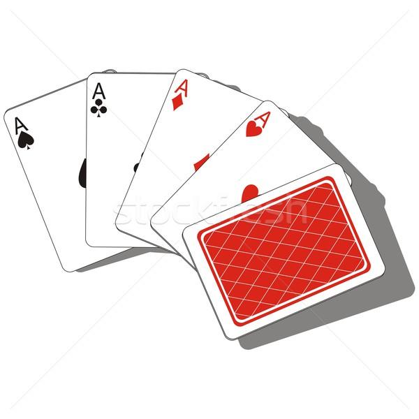 Gry karty zestaw wektora streszczenie kasyno Zdjęcia stock © Dimanchik