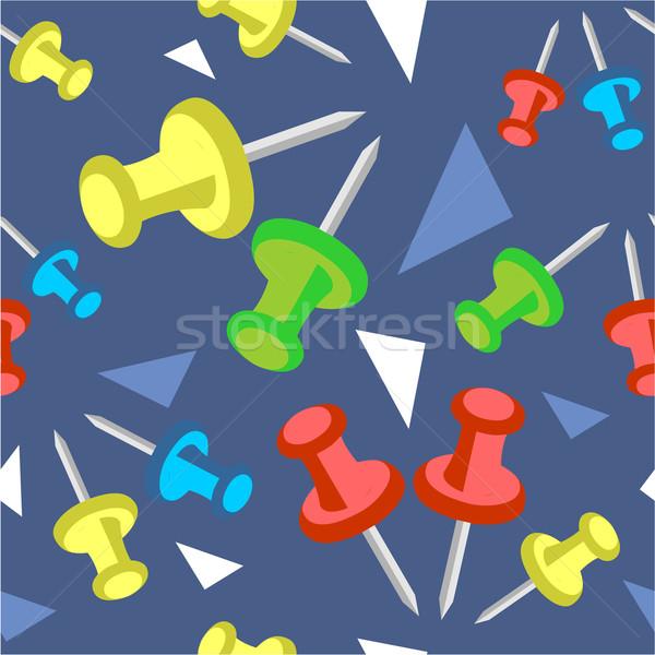 бесшовный орнамент цвета вектора служба бумаги Сток-фото © Dimanchik