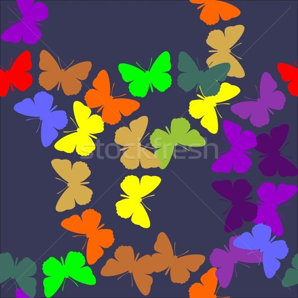 бесшовный орнамент вектора цвета текстуры аннотация Сток-фото © Dimanchik