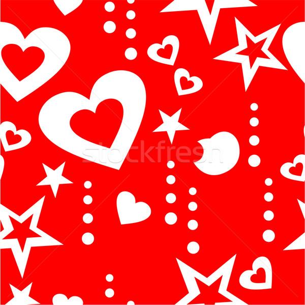 Bezszwowy ozdoba kolor wektora serca miłości Zdjęcia stock © Dimanchik
