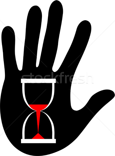 Palm with sandglass in color 02 Stock photo © Dimanchik