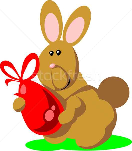 Holiday hare gift egg in color 02 Stock photo © Dimanchik