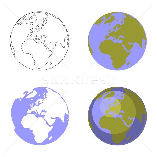 земле мира набор вектора бизнеса воды Сток-фото © Dimanchik