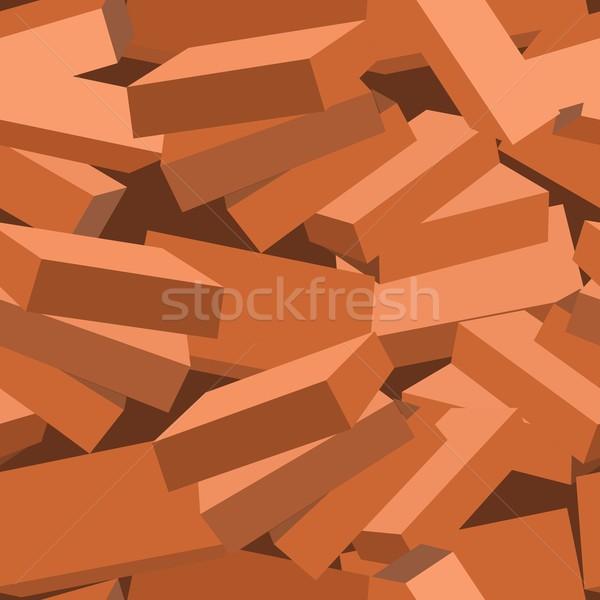 Bezszwowy tekstury wektora budowy ściany tle Zdjęcia stock © Dimanchik