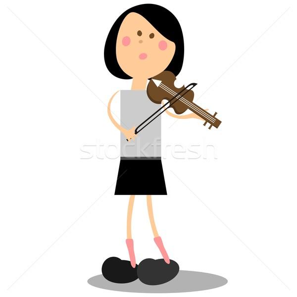Girl musicant 16 Stock photo © Dimanchik