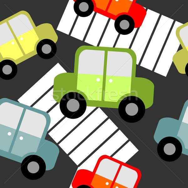 бесшовный орнамент вектора цвета бумаги дороги Сток-фото © Dimanchik