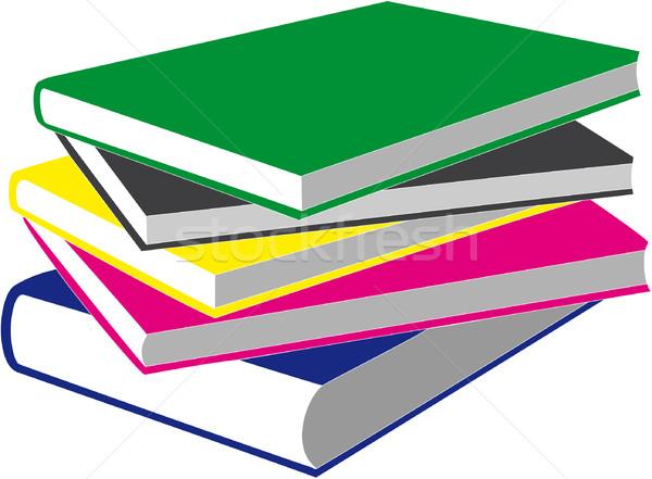 книга вектора книгах цвета бумаги школы Сток-фото © Dimanchik