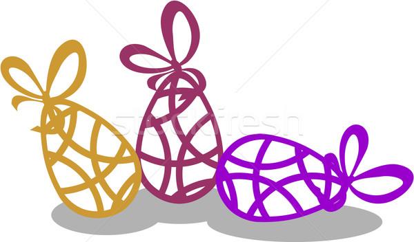 Vacaciones regalo huevo color vector papel Foto stock © Dimanchik